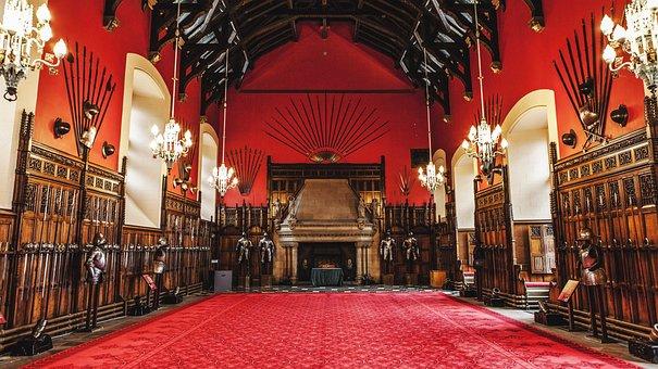 Scotland, Edinburgh, Edinburgh Castle, Palace, Red