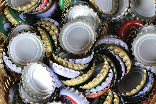 Bottle Tops, Bottle Caps, Top, Cap, Metallic, Metal