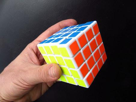 Magic Cube, Hand, Puzzle, Toys, Denksport, Colorful