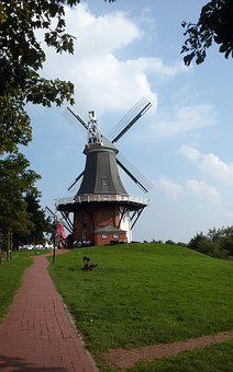 North Sea, Greetsiel, Windmill, Holiday, East Frisia