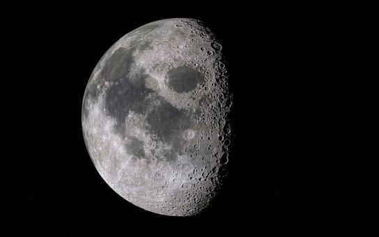Moon, Satellite, Space, Crater, Sky, Luna, Lunar
