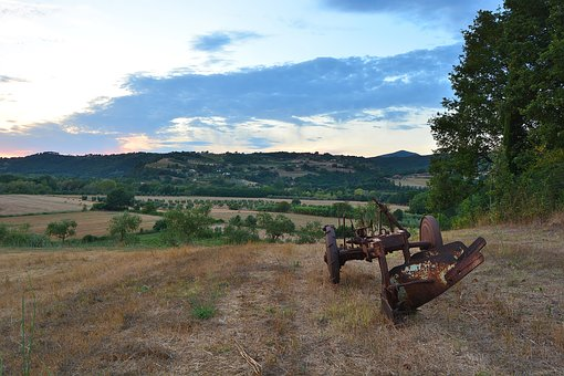 Campaign, Fields, Hills, Plow, Rust, Agriculture