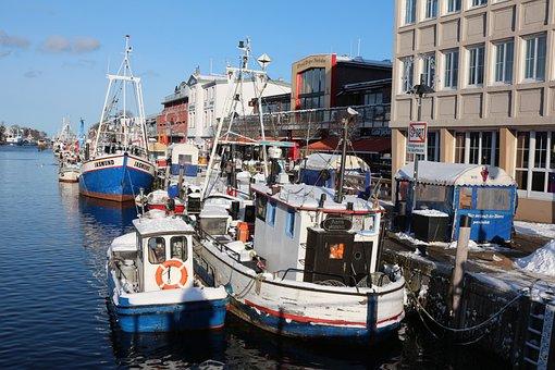 Rostock, Northern Germany, Water, Sea, Port