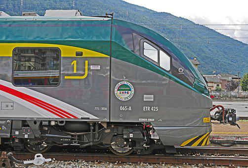 Drive Head, Railway, Regional Traffic, Tirano, Italy