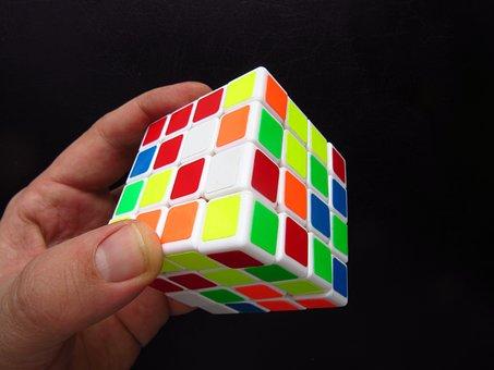 Magic Cube, Hand, Puzzle, Toys, Denksport, Colorful