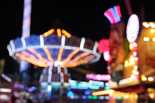 Year Market, Lights, Fair, Carousel, Folk Festival