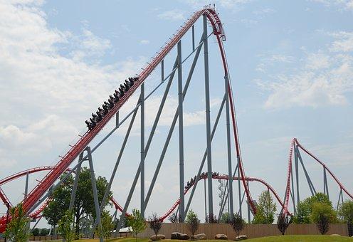 Roller Coaster, People, Thrill, Park, Amusement
