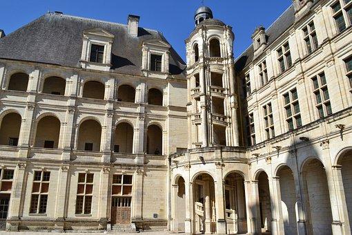 Chambord, Château De Chambord, Course, Spiral Staircase