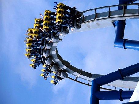 Roller Coaster, People, Ride, Park, Amusement, Coaster