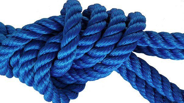 Knot, Protection, Fixing, Blue, Boot, By Slings, Risk