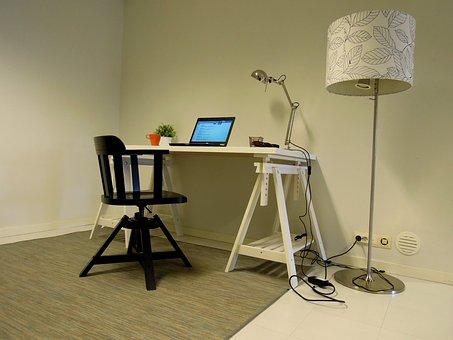Workbench, Ikea, Chair, Office Chair, Decor, Computer