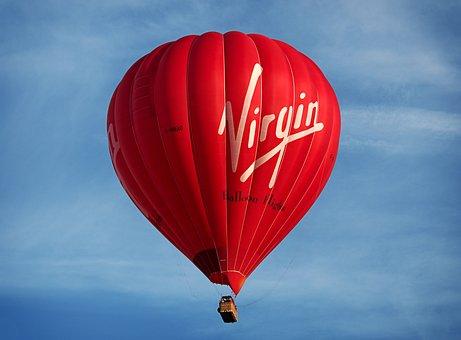 Balloon, Hot, Air, Virgin, Hot Air Balloon, Lift, High