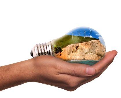 Light Bulb, Pinwheel, Energy Revolution, Wind Power