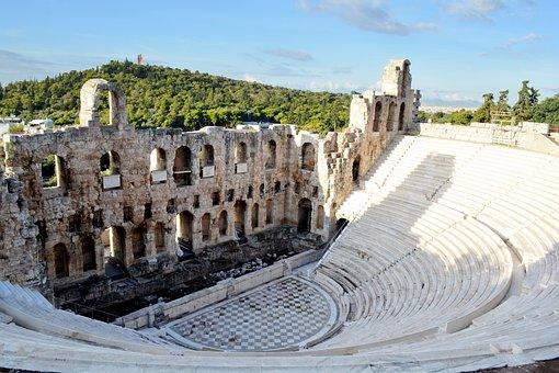 Greece, Athens, Parthenon, Acropolis, Theatre, History