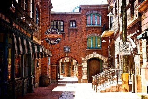 Singapore, Universal Studios Singapore, Architecture