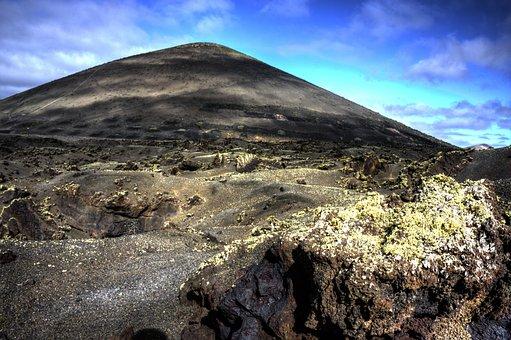 Lanzarote, Volcano, Surreal, Landscape, Travel
