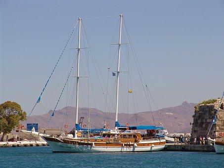 Greece, Kos Island, Sailing