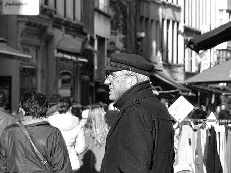 Street Photography, Antwerp, Street, Hoogstraat, People