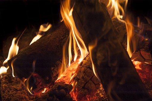 Fire, Wood, Flame, Campfire, Fireplace, Embers