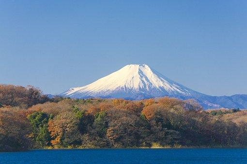 Mt Fuji, Japan, Blue Sky, Mountain, Natural