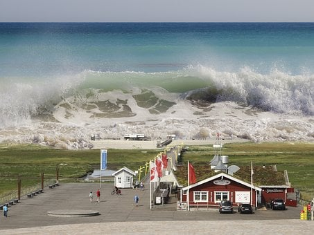 St Peter-ording, Tsunami, Seaquake, Borderline, Wave