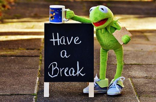 Kermit, Cup, Drink Coffee, Break, Coffee Break