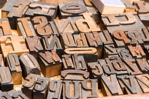 Letters, Book Printing, Font, Typography, Wood Lettern