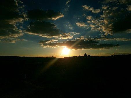 Cappadocia, Gun Sunset, Filter, Turkey, The Suns
