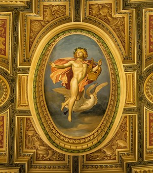 Painting, Art, Blanket, Ceiling Painting
