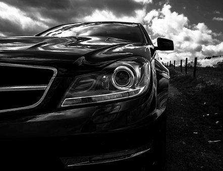 Benz, Car, Daimler, Power, Headlamps, Halogen, Luxury