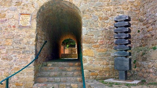 Balaruc, France, Front Door, Door, Entry, Porch