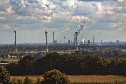Industry, Ruhr Area, Smoke, Exhaust Gases, Environment