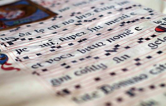Calligraphy, The Middle Ages, Scores, Music, Manuscript