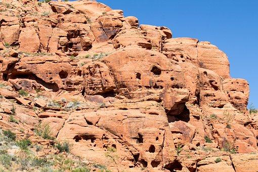 Erosion, Wind, Water, Sandstone, Cliff, Limestone