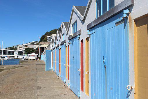 Wellington, New Zealand, City, Center, Road, Blue