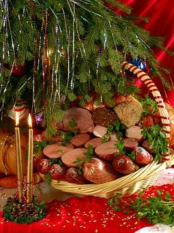 Food, Christmas, Tasty, Meat Products, Christmas Tree