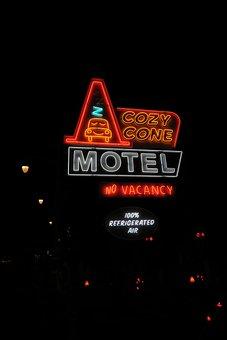 Cozy Cone, Disneyland, Racers, Neon, Sign, Street