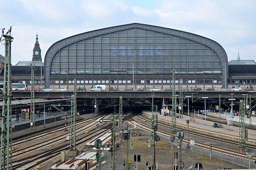 Hamburg, Railway Station, Rail Traffic, Gleise