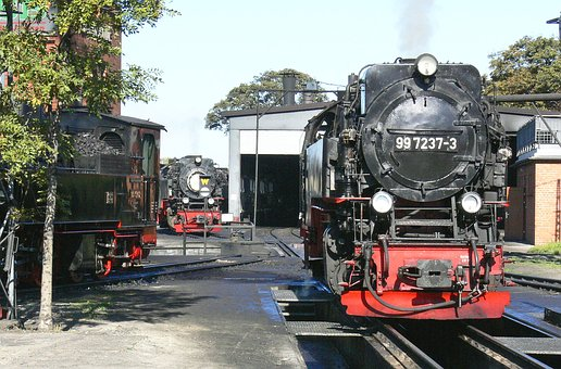 Steam Locomotive, Resin, Wernigerode, Bahnbetriebswerk