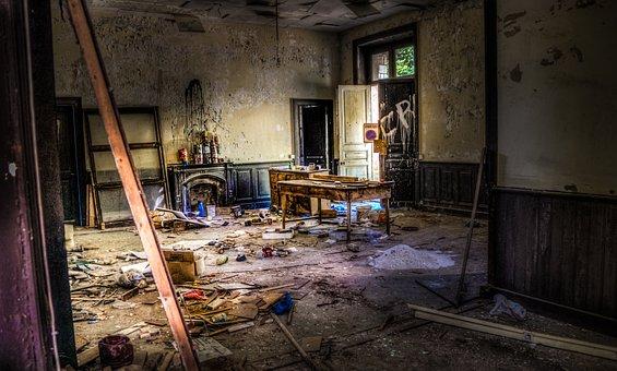 Abandon, Squatting, Trash, Squat, Abandoned, Building