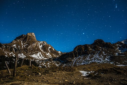 Star, Sky, Starry Sky, Night, Night Sky, Mountains