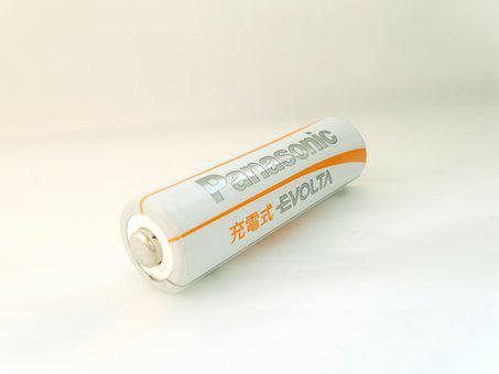 Battery, Panasonic, Rechargeable, Japan, Japanese