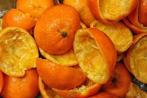 Peels, Tangerines, Screw, Oranges, Fresh Juice