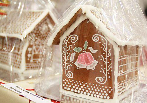 Gingerbread House, Christmas, Gift