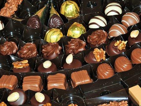 Chocolate, Box Of Chocolate, Dessert, Gift, Assortment