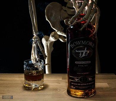 Bottle, Liquor, Skeletal, Glass, Whisky, Carpenter
