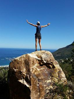 Cape Town, South Africa, Mountain, Girl, Freedom