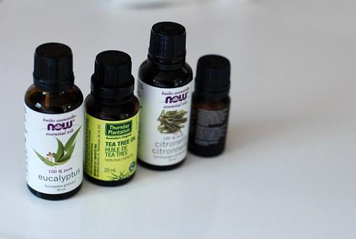 Essential, Oils, Bottle, Aromatherapy, Natural