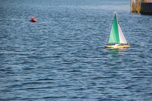 Model Boat, Lake, Remotely Controlled, Leisure