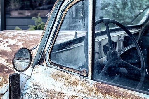 Auto, Steering Wheel, Control, Mirror, Renault, Classic